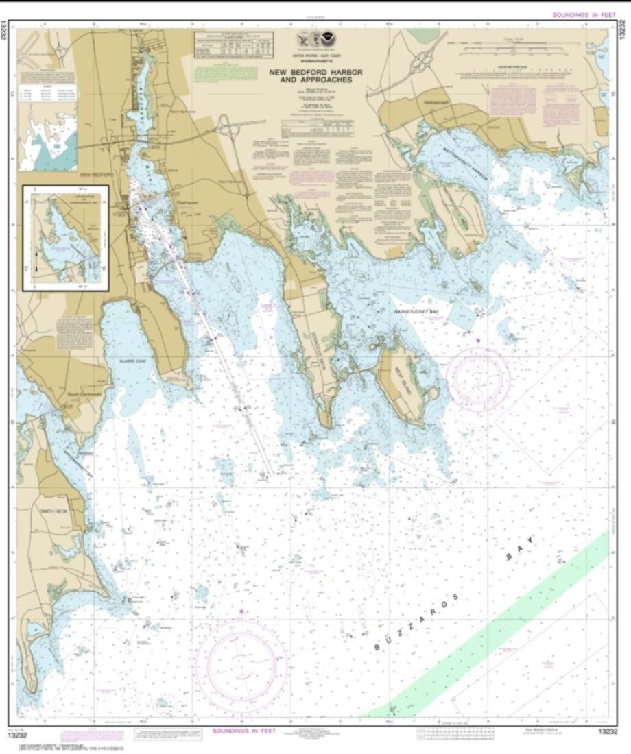 New Bedford Harbor and Approaches (13232-5) by NOAA