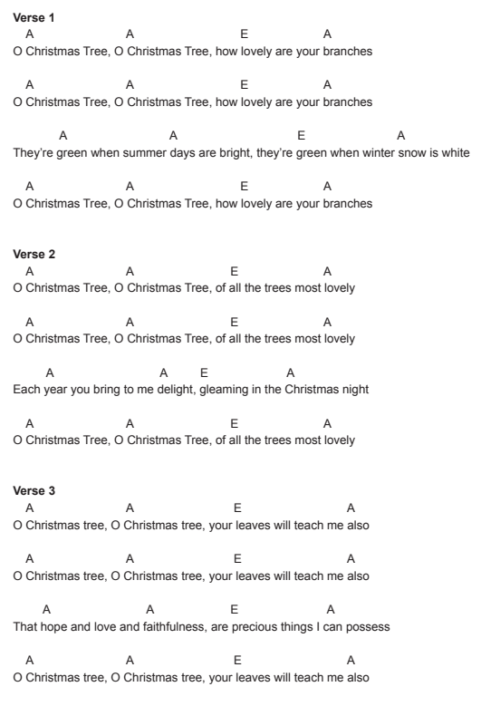 5 Easy Christmas Songs With 3 Chords Andy Guitar Christmas Song Ukulele Songs Christmas Ukulele Songs