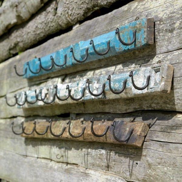Hook It! Wall Hooks From Reclaimed Wood And Bent Nails. Wood IdeasDiy  IdeasDecor ...