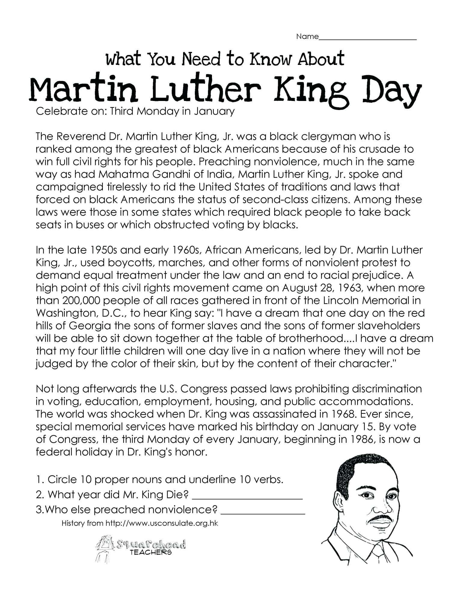 7 Reading Comprehension Worksheets 5th Grade Multiple Choice Gr In 2020 Martin Luther King Activities Martin Luther King Worksheets Martin Luther King Jr Activities