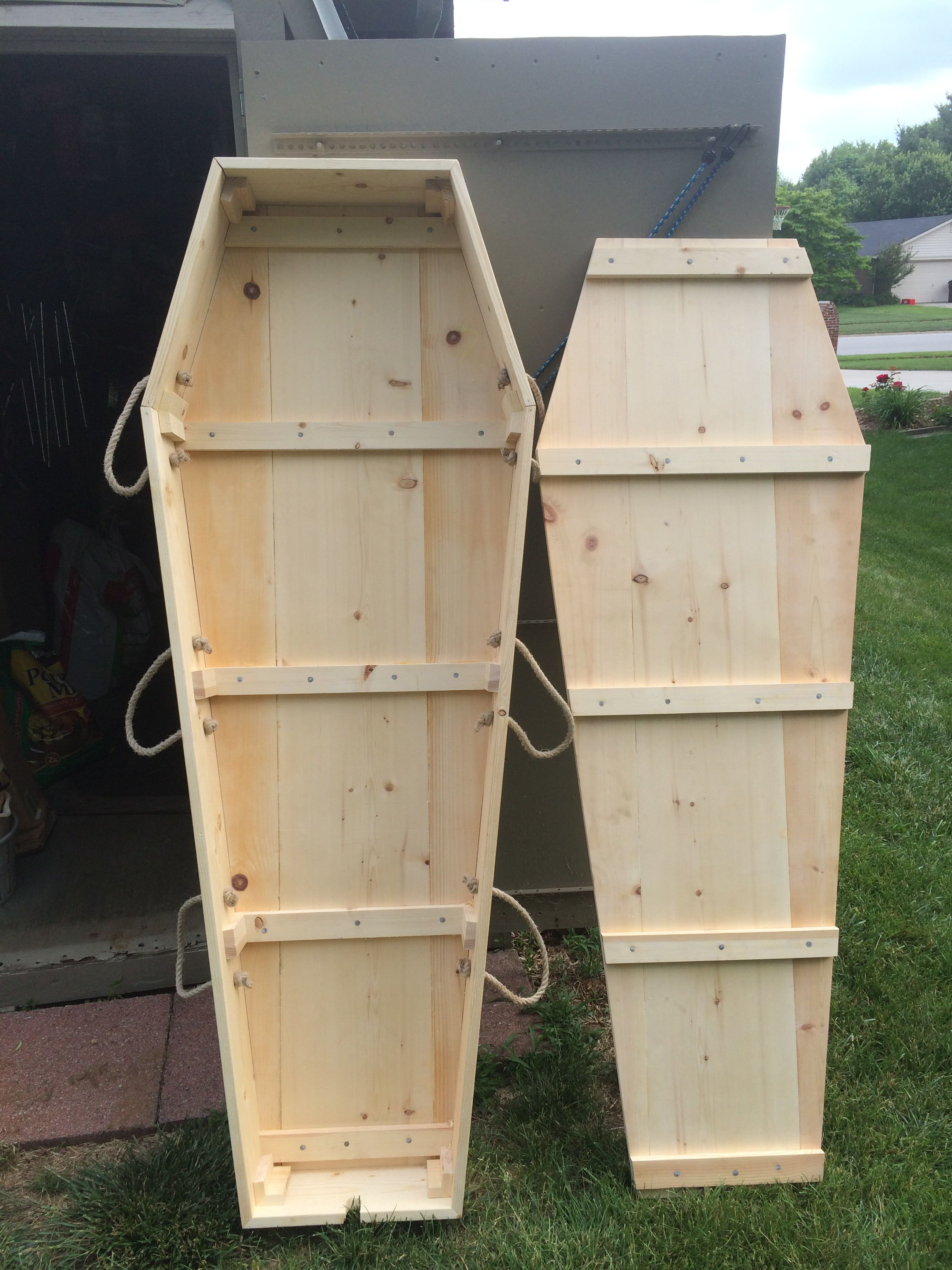 Pine Box Coffin Gag Gift Diy Halloween Projects