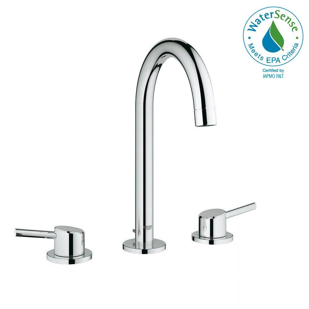 Grohe Concetto 8 In Widespread 2 Handle Bathroom Faucet In