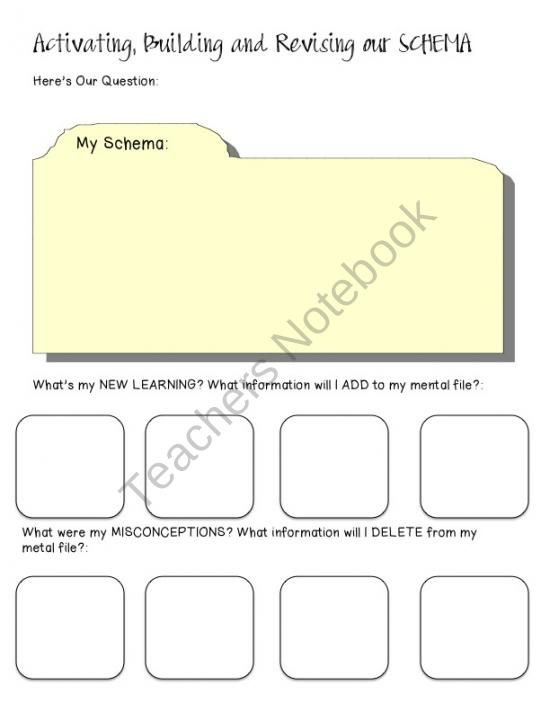 FREE! Schema File Folder Graphic Organizer product from Leading-and-Reading on TeachersNotebook.com