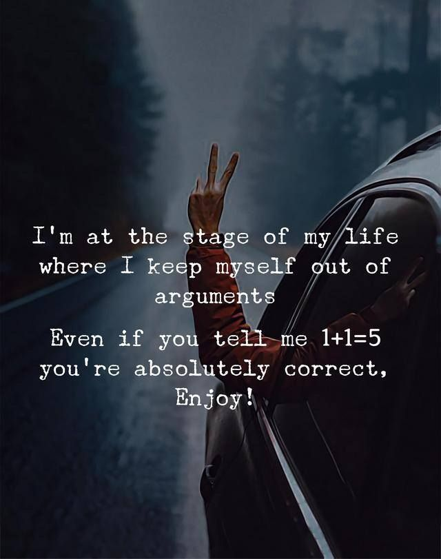 I'm at the stage of my life where I keep myself out of