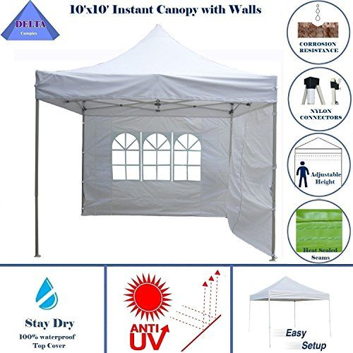 Best C&ing Tents | 10x10 Ez Pop up Canopy Party Tent Instant Gazebo 100 Waterproof Top with 4 Removable White E Model By DELTA Canopies10x10 Ez Pop up ...  sc 1 st  Pinterest & Best Camping Tents | 10x10 Ez Pop up Canopy Party Tent Instant ...