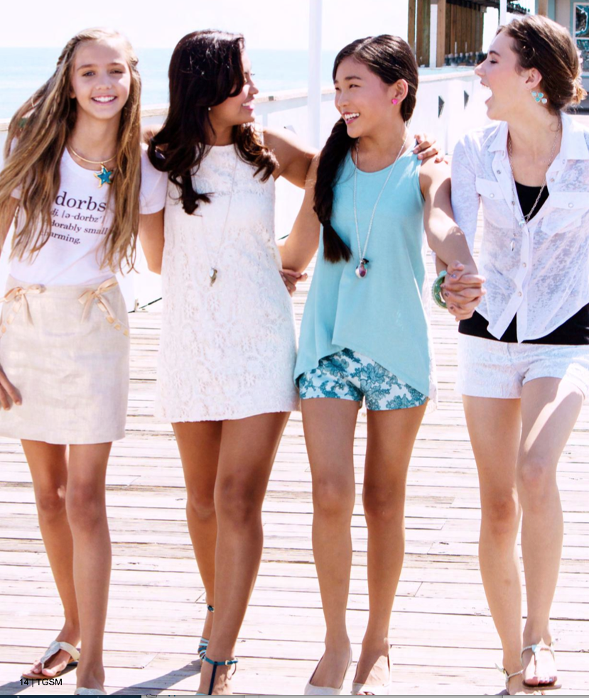 American Tween Girls Fashion: Floral Print Retro Style Puff Sleeve Chiffon Slimming