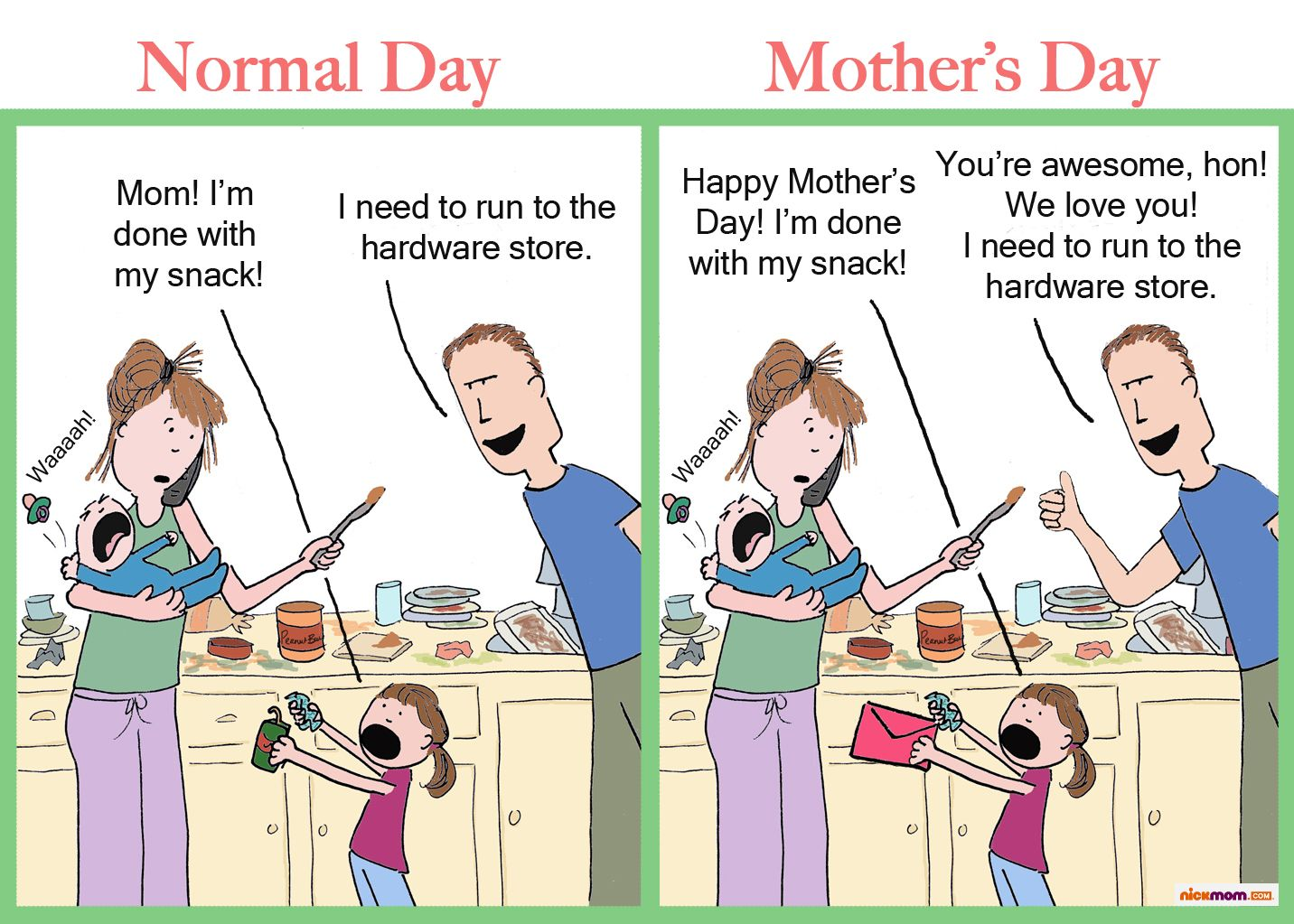 Funny Meme For Mothers Day : Normal day vs mother s things that make me laugh
