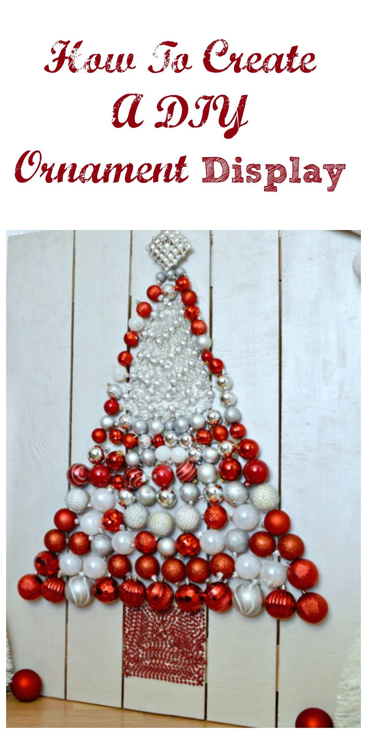 DIY Christmas Tree Ornament Display Diy christmas tree