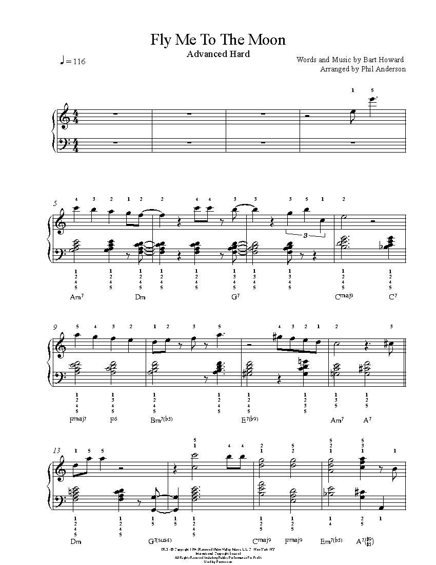 harvest moon sheet music pdf
