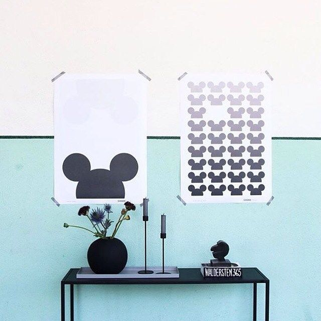 Black white mint ⚪️⚫️ and Mickey Mouse || find both prints in our shop  #ourfavorite#cooee#mickeymouse#kidsinterior#kidsdecor#kidsroom#milkbots@cat_cooee
