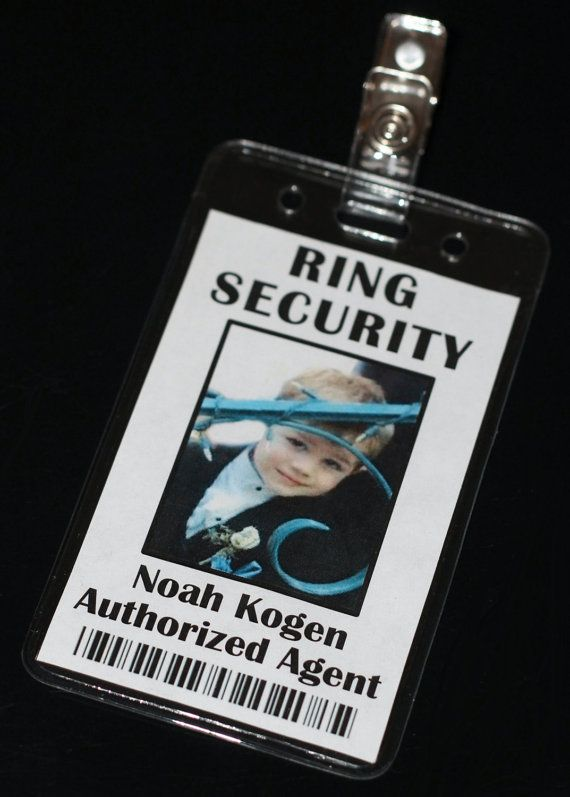 Ring Security Ring Bearer Bling Security Badge #ringsecurity #ringbearer #blingsecurity $11.50