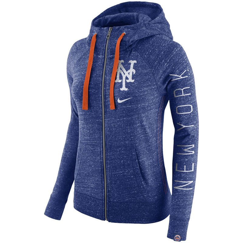 size 40 712bc 7a91d New York Mets Nike Women's Vintage Full-Zip Hoodie - Royal ...