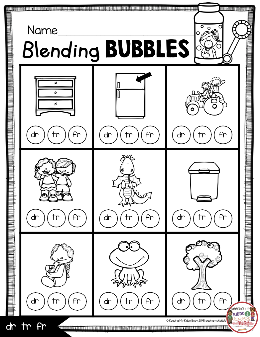 Phonics Unit 5 - Consonant Blends FREEBIE — Keeping My Kiddo Busy   Phonics  centers kindergarten [ 1138 x 876 Pixel ]