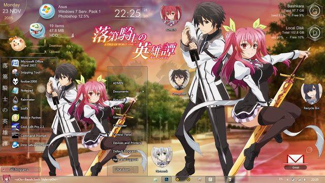 Anime Skin Theme Windows 7 Rakudai Kishi No Cavalry By Bashkara Anime Kishi Marvel Nemesis Anime wallpaper themes for windows 7