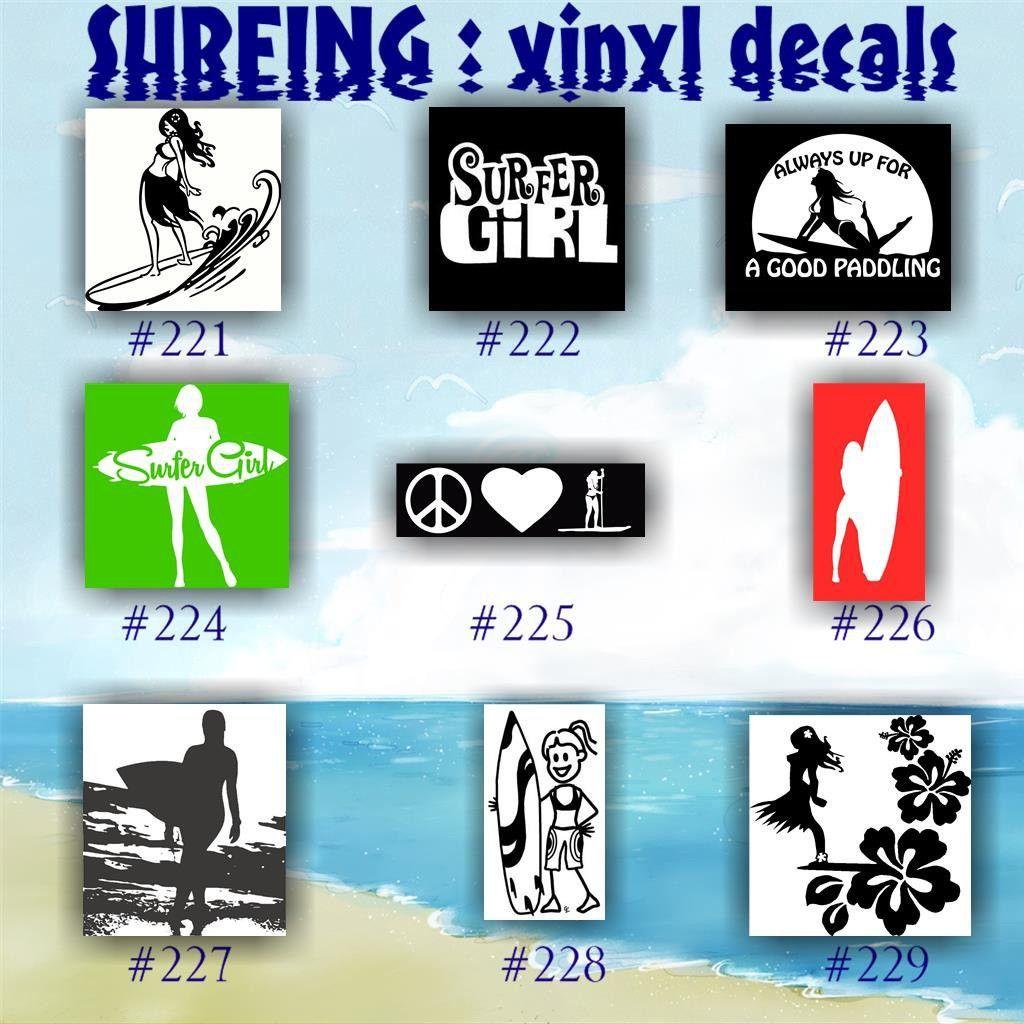 SURFING Vinyl Decals Surfing Sticker Vinyl Car Decal - Custom vinyl decals car windows