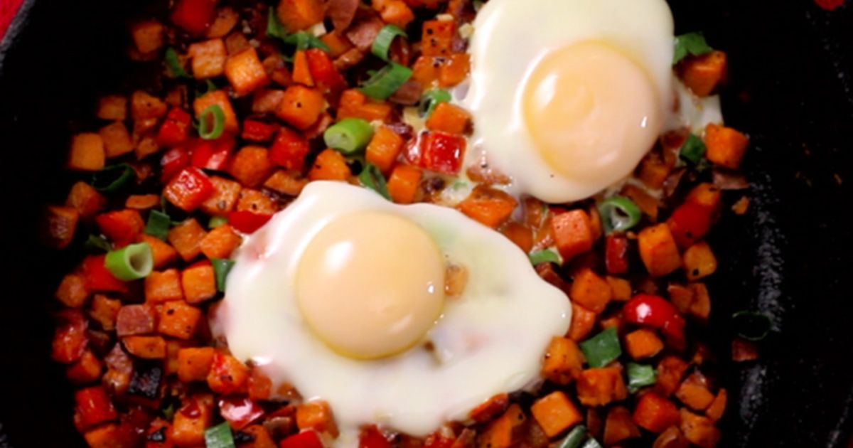 A new and improved take on eggs and potatoes.