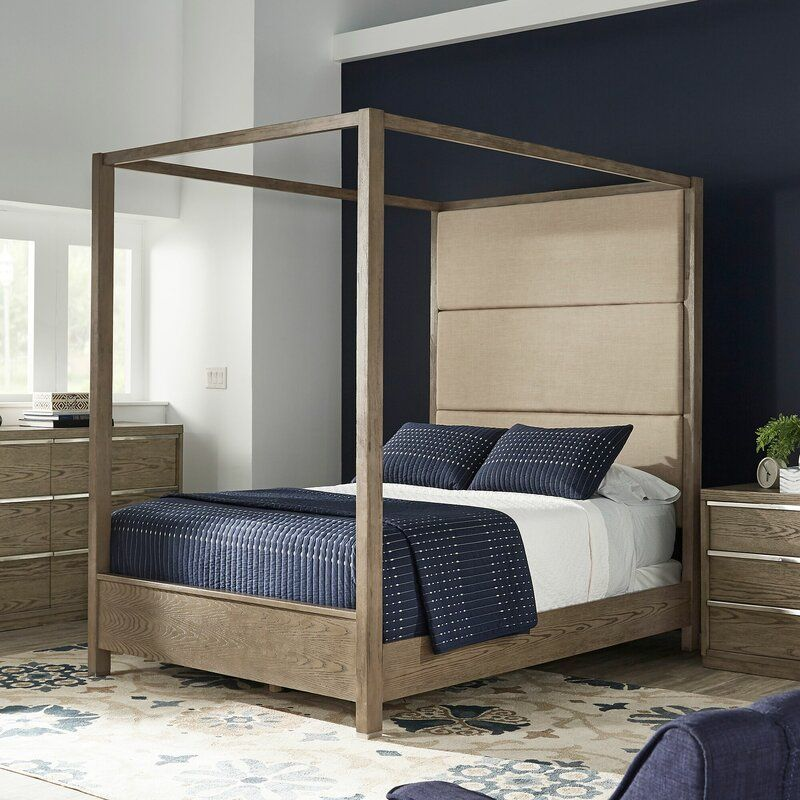 Raye Upholstered Canopy Bed in 2020 Canopy bed, Modern