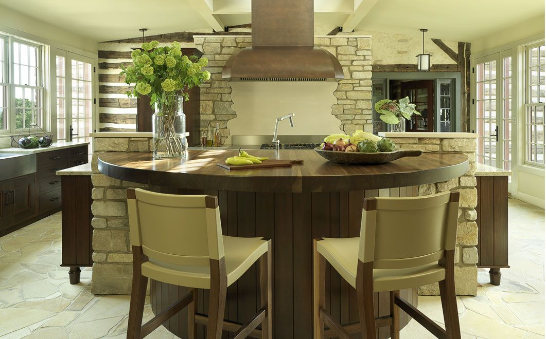 Castle Design Round kitchen island, Round kitchen table