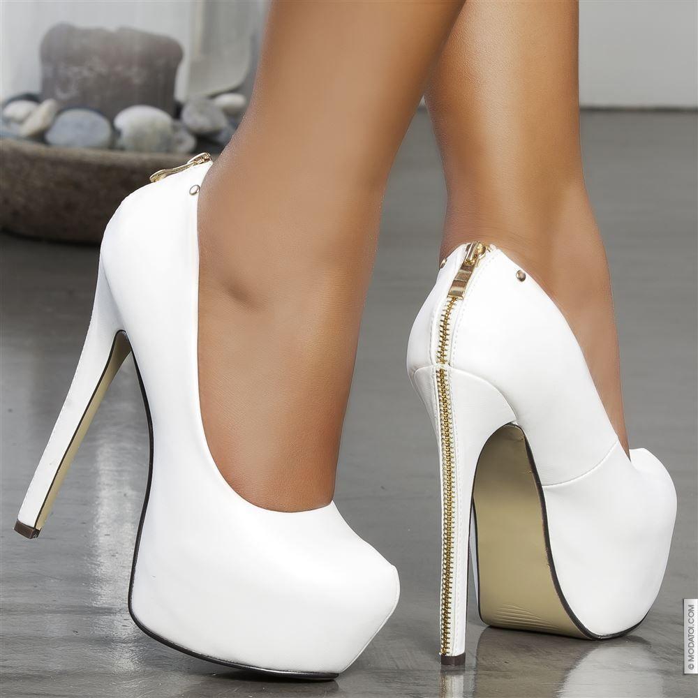 escarpins femme blanc taille 37 achat en ligne escarpins femme sur modatoi talons pinterest. Black Bedroom Furniture Sets. Home Design Ideas