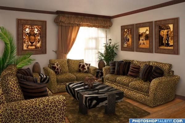 Safari Living Room picture for interior transform photoshop contest Pxleyes