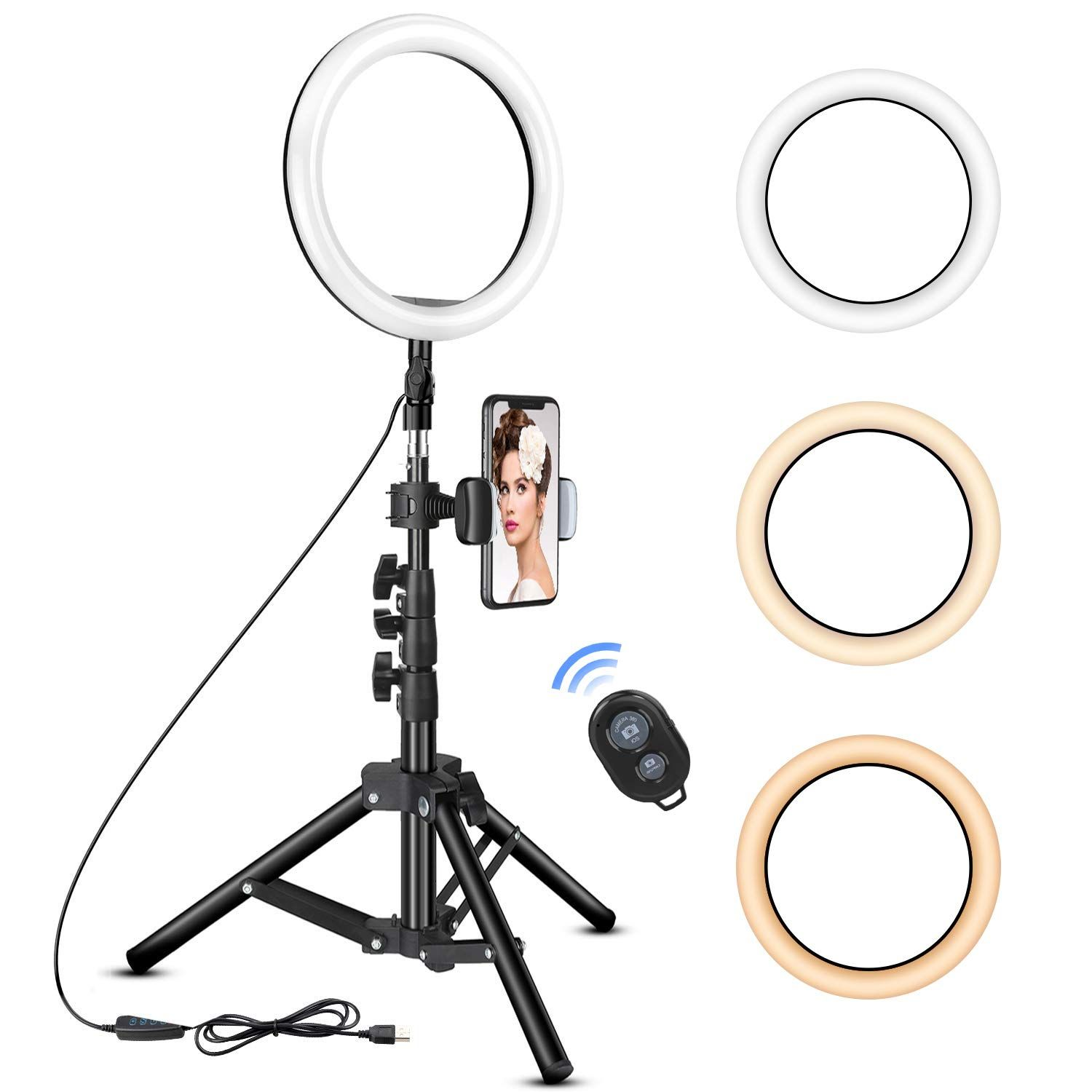 10 Inch Ring Light With Tripod S Selfie Light Camera Selfie Led Ring Light
