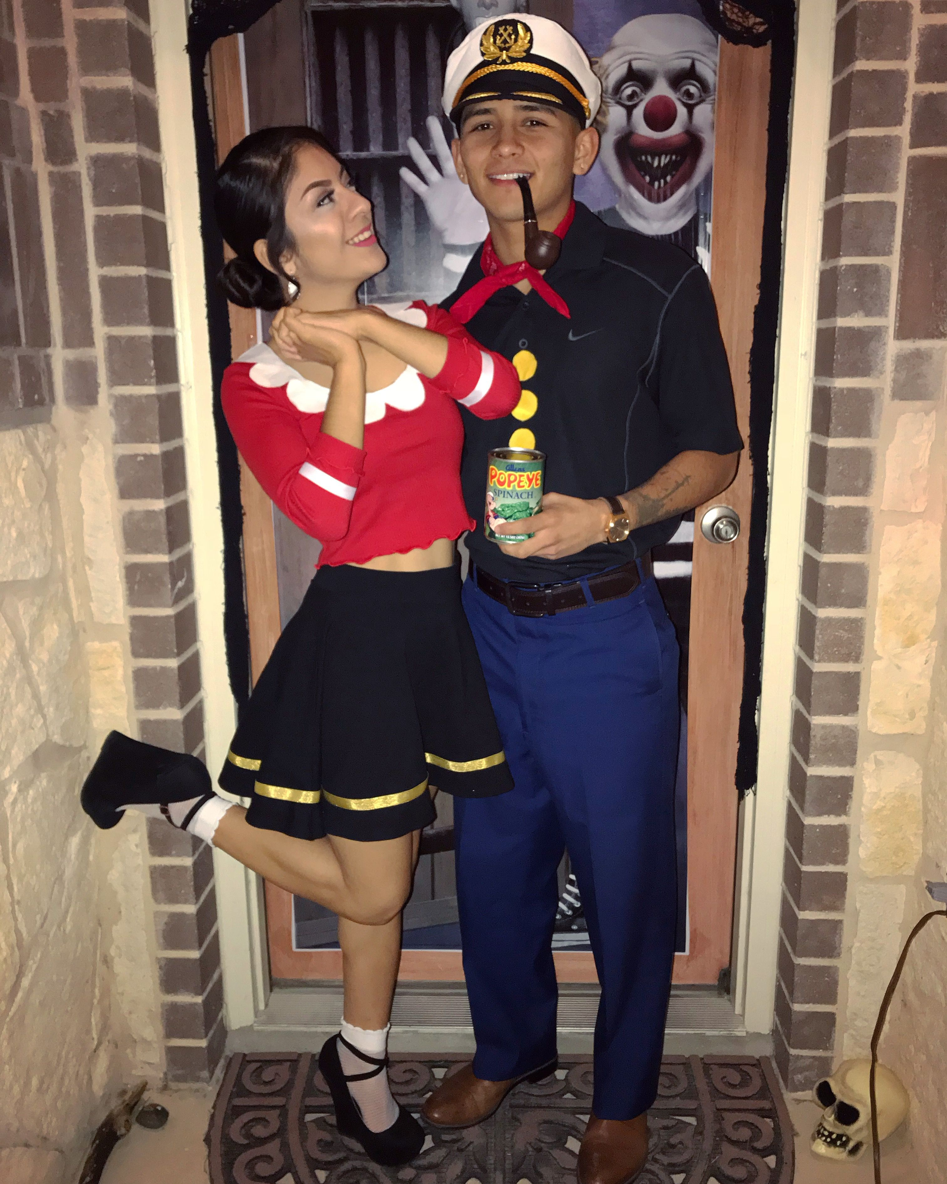 Popeye olive oyl costume #couplescostume #popeye #popeyecostume #oliveoyl #haloweencouple  sc 1 st  Pinterest & Popeye olive oyl costume #couplescostume #popeye #popeyecostume ...