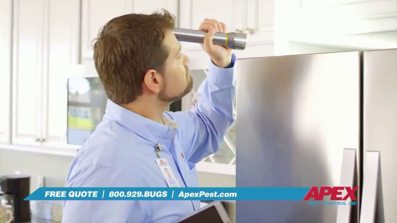 Apex pest control since 1985 ad commercial on tv 2019