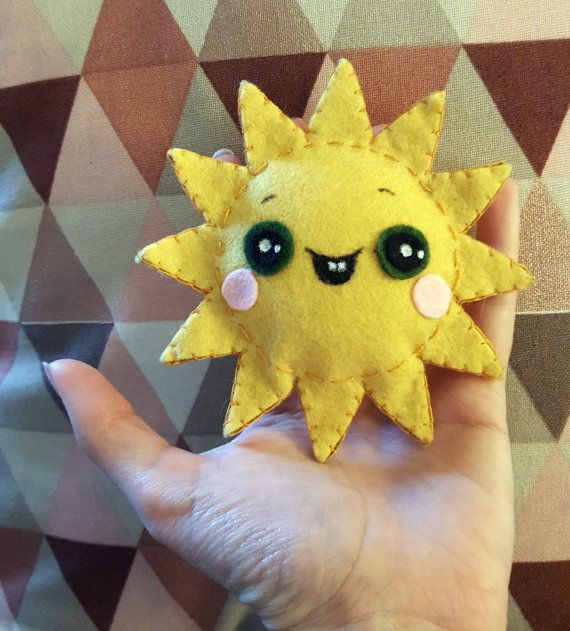 Mini peluche soleil by CocoStudioCreations on Etsy