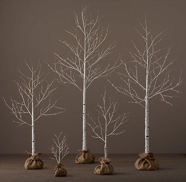 winter wonderland trees birch 2 9 from restoration hardware reg 40 229 now on sale 28 160