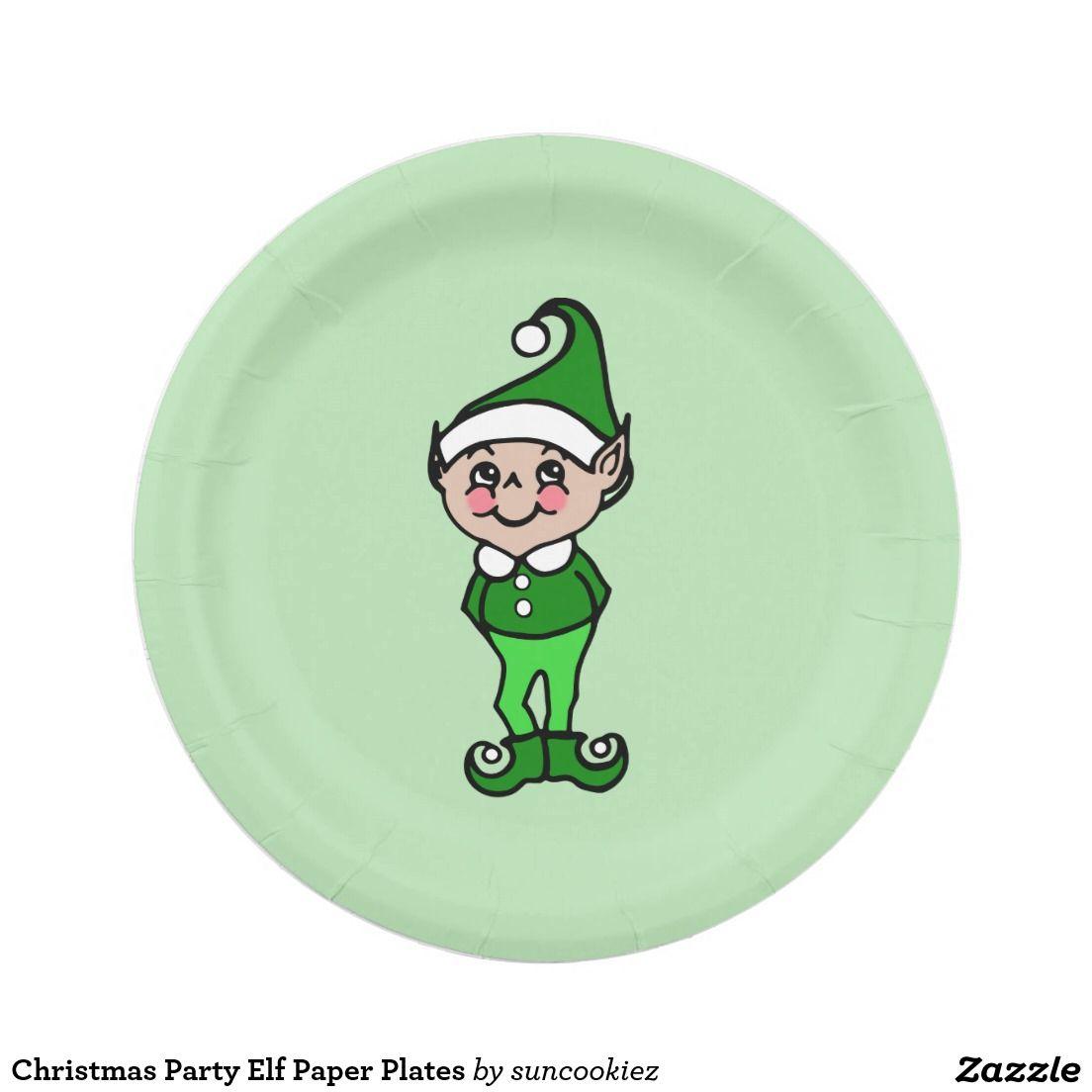 Christmas paper plates  sc 1 st  Pinterest & Christmas Party Elf Paper Plates | Christmas Paper Plates ...