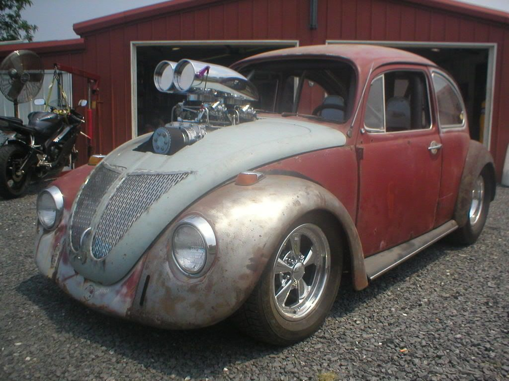 Special cars volkswagen beetle bug v8 - My Blown Sbc Powerd 69 Vw Pro Street V8 Bugs