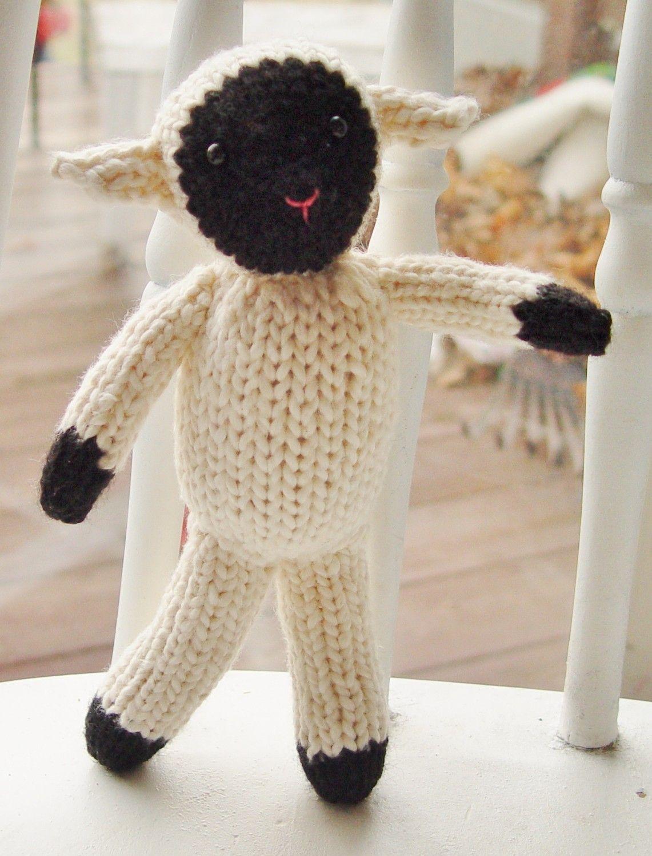 Tahlia the Sheep knitting pattern PDF. $3.50
