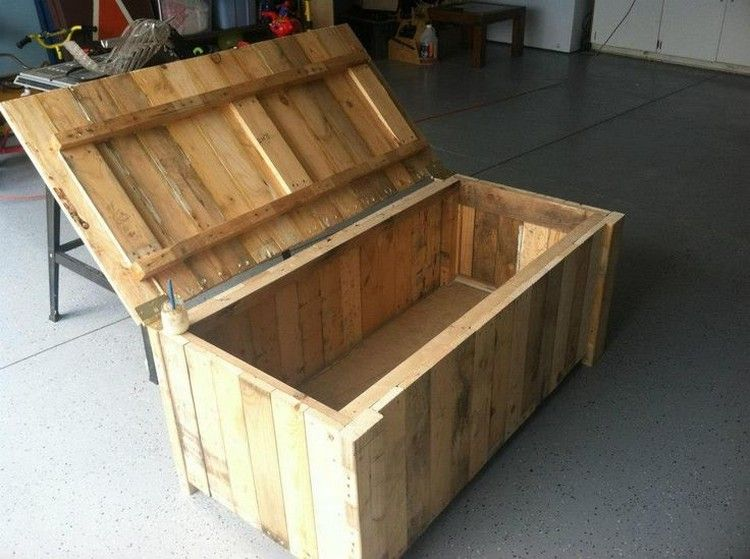Diy Wooden Pallet Storage Box Plans Wood Pallets Pallet Diy
