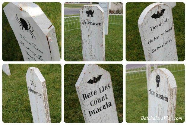 DIY Halloween Tombstones Halloween Pinterest Halloween