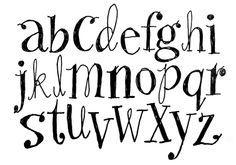 handwritten font alphabet - Google Search