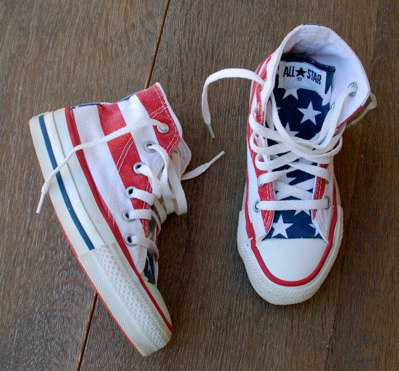 Sale Vintage American Flag Converse Stars And Bars Converse All Star Sneakers Retro Made In The Converse All Star Sneakers American Flag Converse Converse Star