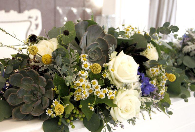 結婚式の会場装花~ナチュラル ぷっくり多肉~ | しあわせはこび隊 ポポの活動日記