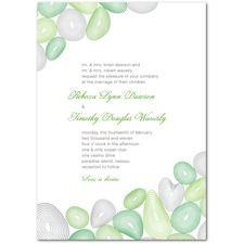Sea Glass Wedding Invitations