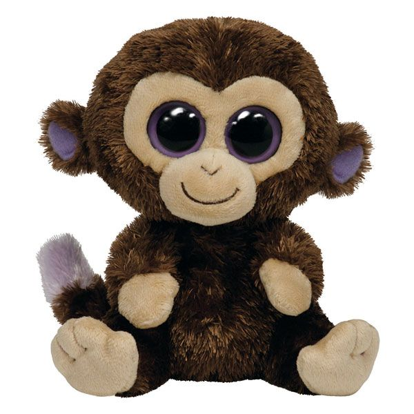 Peluche boo 39 s coconut le singe 15 cm gros yeux toutous - Animaux a gros yeux ...