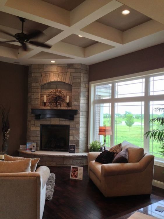 Interior Design Fireplace Living Room: 30+ Awesome Corner Fireplace Ideas For Your Living Room