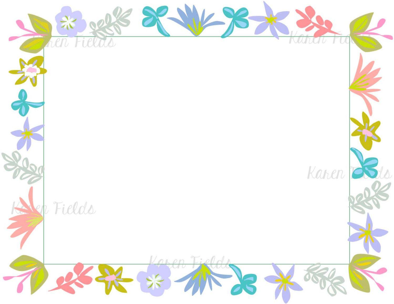 Borders frames vintage teacher appreciation printable for Paper border