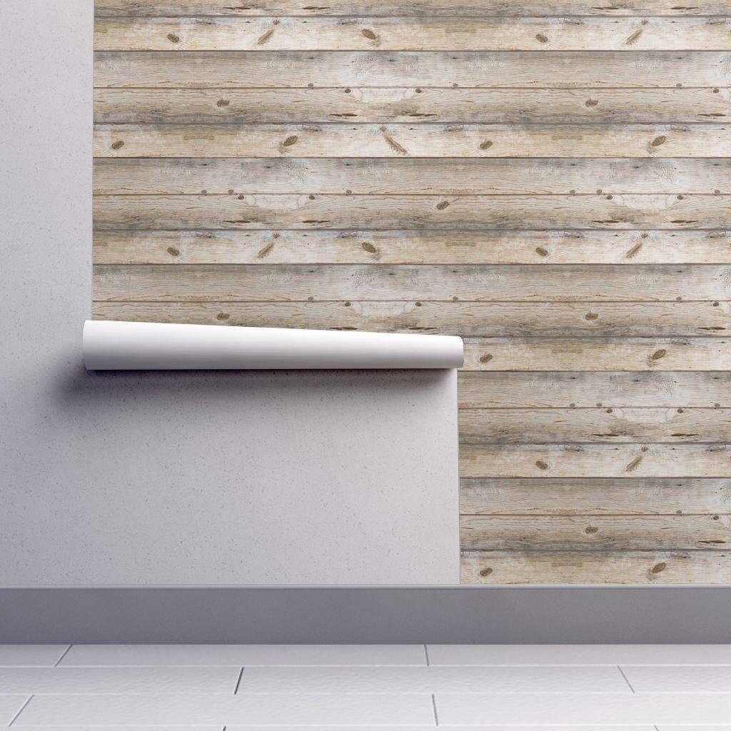 Shiplap Wallpaper Reclaimed Plank By