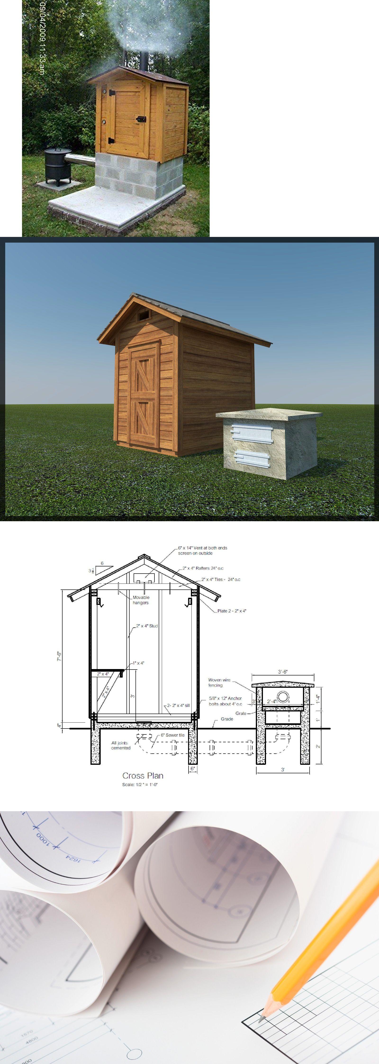 Building Plans and Blueprints 42130: Smokehouse Plans 8 X 6 ... on barn plans blueprints, garage plans blueprints, shed plans blueprints, pig roaster plans blueprints, windmill plans blueprints,