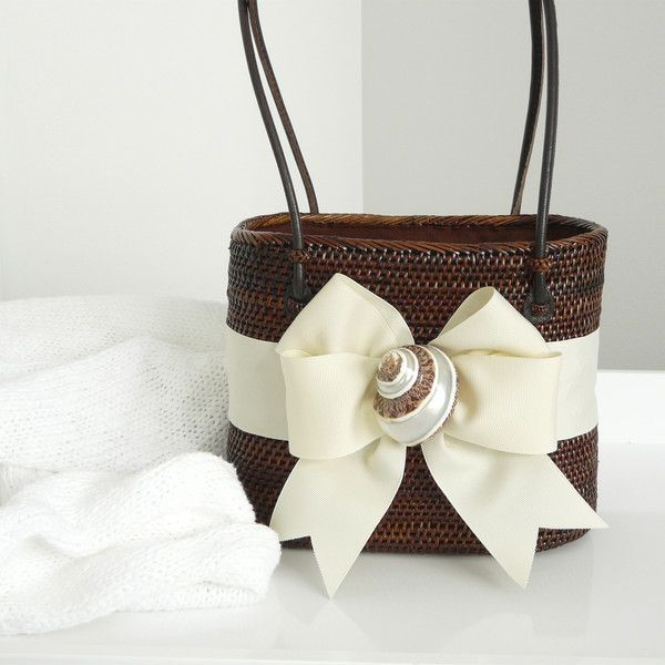 Bosom Buddy Chocolate and Ivory Shell Bag