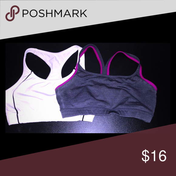 Under Armour sports bra bundle Under Armour sports bra bundle. Super comfy feel, lightweight material for maximum comfort during your workout. First one is White and black and second is pink and grey with a beautiful straps. Excellent condition. Sell or trade Under Armour Intimates & Sleepwear Bras