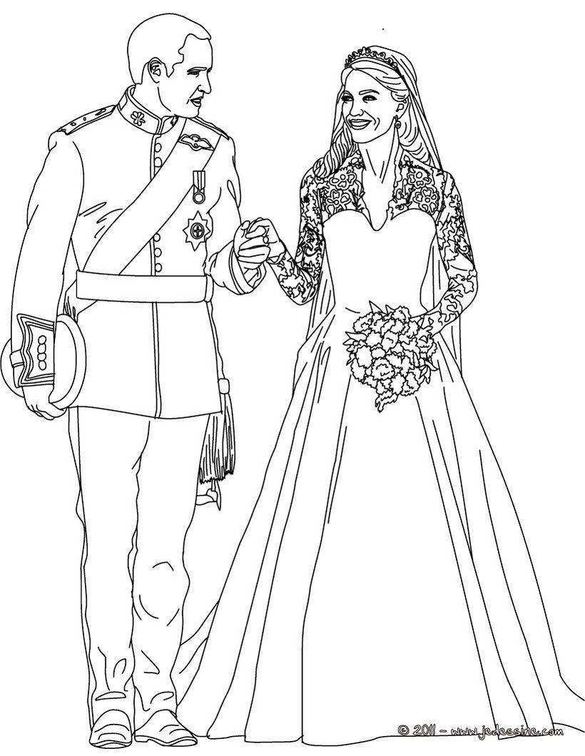 Coloriage Mariage Patrons Mariages Coloriages De Mariage Pages Colorées Imprimables Feuilles € Colorier Mariages Royaux Personnes Cél¨bres