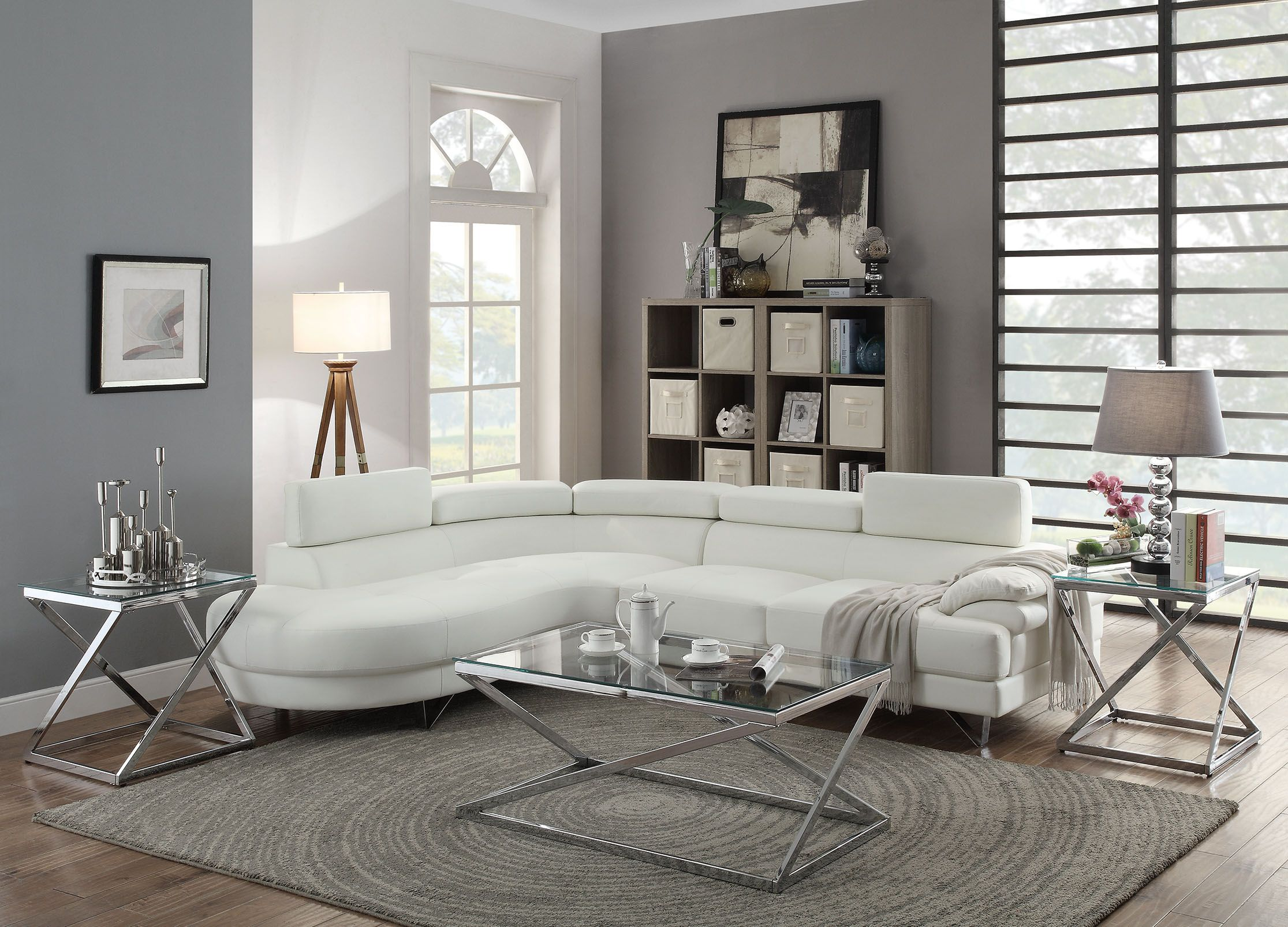 2pc Bobkona Sectional Sofa