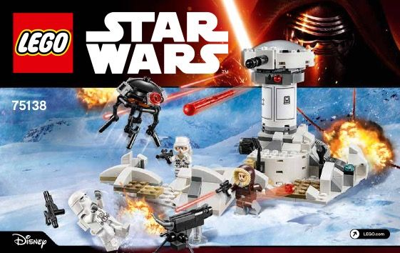 View LEGO instructions for Hoth Attack set number 75138 to help ...