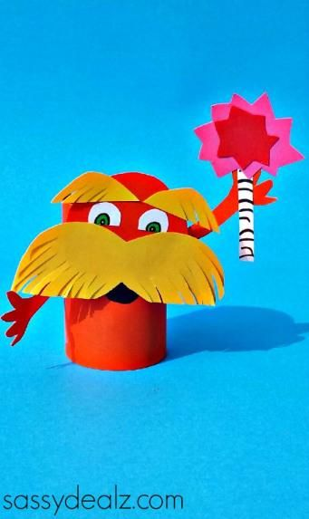 Lorax Toilet Paper Roll Craft For Kids (Dr. Suess | Trabajo para ...