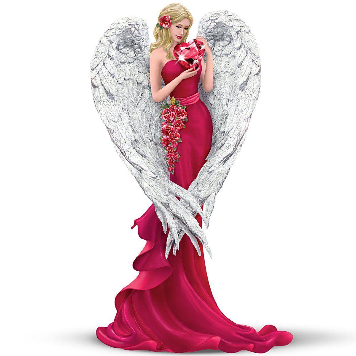 Thomas Kinkade Angel Figurine Heart Of Love